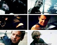 """You didn't see that coming?"" --> Clint Barton // Pietro Maximoff // Avengers // Age of Ultron // Quicksilver // Hawkeye"