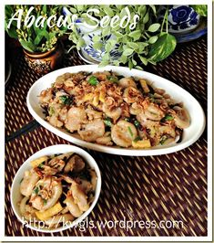 INTRODUCTION I am not a Hakka but I do have my fair share of abacus seeds as my wife is a Hakka and two of my sister in laws are Hakka. Obviously, this is an auspicious dish for the Tai pu (大浦) Hak… Hakka Recipe, Asian Cake, Chinese Food, Chinese Recipes, Malaysian Food, Asian Desserts, Dim Sum, Pasta Salad, Seed Beads