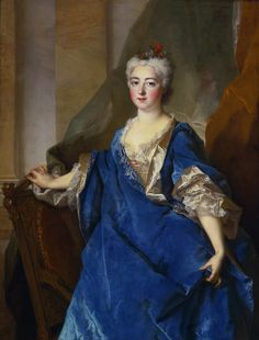 Portrait of Katarzyna Bielińska, Baroness of Besenval by Nicolas de Largillière, ca. 1716 (PD-art/old), Private collection, the younger sister of Franciszek Bieliński married in 1716 Jean Victor de Besenval, ambassador of France in the Polish-Lithuanian Commonwealth