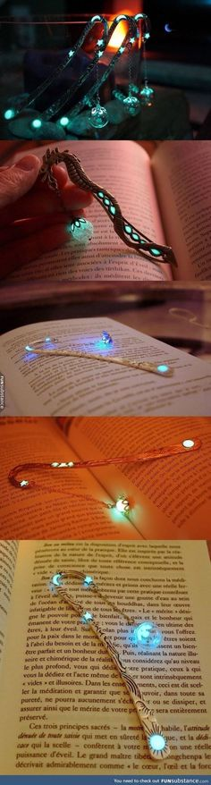 Glow-in-the-dark bookmarks that will certainly add a touch of magic to your reading - - Diy For Teens I Love Books, My Books, Ideias Diy, Things To Buy, Stuff To Buy, Book Nerd, Book Lovers, Book Worms, Diy And Crafts