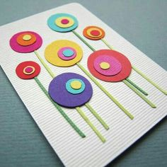 ideas diy paper flowers for cards punch art Flower Cards, Paper Flowers, Diy Flowers, Kids Crafts, Art Carte, Mothers Day Crafts, Preschool Art, Spring Crafts, Diy Cards