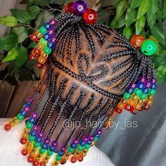 Toddler Braided Hairstyles, Little Girl Braid Hairstyles, Cute Hairstyles For Kids, Girls Natural Hairstyles, Baby Girl Hairstyles, Kids Braids With Beads, Braids For Kids, Kid Braids, Little Black Girls Braids
