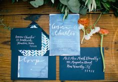 watercolor blue stationery suite | Sarah McKenzie #wedding