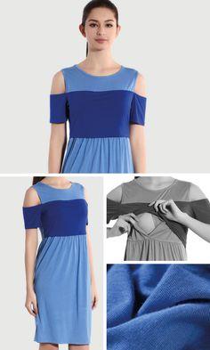 Cool front for nursing dress
