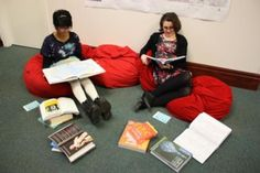 Reading in the reference area - Bolton Central Library