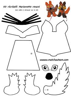 Ma Tchou team: Marionnette renard à fabriquer et peindre automne et Le Petit Prince