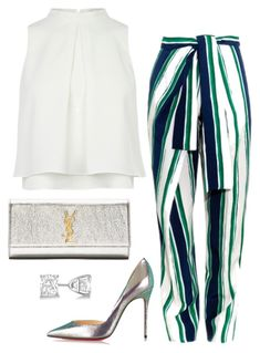 """Untitled #572"" by fashionkill21 ❤ liked on Polyvore featuring Chloé, Christian Louboutin, Yves Saint Laurent and Allurez"