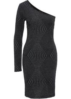 Oneshoulder Kleid aus Jacquard, BODYFLIRT