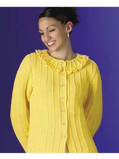 Lemon Drops Sweater -- Free Crochet Pattern