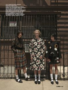 ali arboux, anastasija titko and edythe hughes by hong jang hyun for glamour germany october 2014