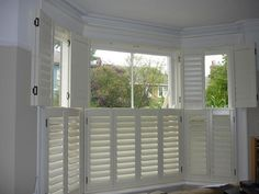Best Ideas For Kitchen Window Shutters Lights Indoor Shutters, Interior Window Shutters, Shutters Inside, White Shutters, Custom Shutters, Best Interior Design Websites, Home Interior Design, Bay Window Blinds, Houses