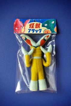 Knock Off Tokusatsu Kaiju Series: Nonmetalinome by Hine Mizushima, via Behance