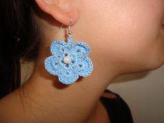 Νέες μειωμένες τιμές σε όλα τα προιόντα μας!!! Χρυσό βελονάκι: Χειροποίητα πλεκτά σκουλαρίκια λουλούδια Crochet Earrings, Blog, Jewelry, Jewlery, Bijoux, Schmuck, Jewerly, Jewels, Jewelery