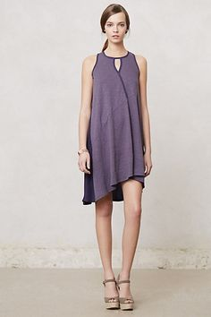"Draped Amethyst Swing Dress #anthropologie.   Honestly, why can't I be 5'9"" and lithe?  :-(  This is so pretty!"