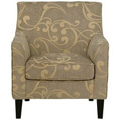 Blair Taupe and Cream Swirl Armchair
