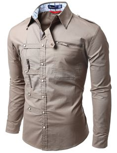 Doublju mens shirts zipper point casual button down shirts, stiles, urban outfits, cool Urban Outfits, Cool Outfits, Moda Men, Mens Kurta Designs, Only Shirt, Mens Designer Shirts, Camisa Formal, Embroidered Sweatshirts, Formal Shirts