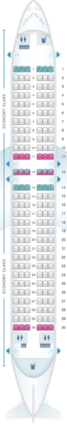 Seat Map Kingfisher Airlines Airbus A320 200 174PAX