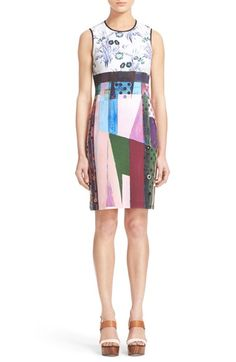Clover Canyon 'Nouveau Facade' Mixed Print Sheath Dress