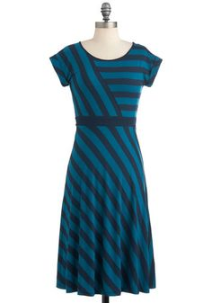 {This looks like a comfy every day dress.} An Afternoon With You Dress in Blue, #ModCloth