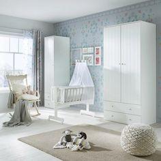 Wiegenset aus Holz in Weiß ca. 40x90cm online kaufen ➤ mömax Modern Living, Toddler Bed, Furniture, Home Decor, Comforters Bed, Kidsroom, Timber Wood, Child Bed, Interior Design