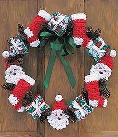 crochet pattern - christmas wreath