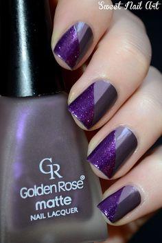 Purple nails. Nail art. Nail design. Polishes. Polish.