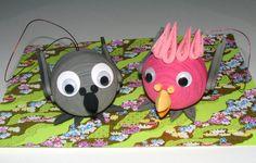 Arbre de Noël des jouets gris du Gabon perroquet que cacatoès à poitrine Rose…