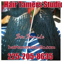 Box braids , African hair braiding , single braids , individual braids ,reasonable prices , hair braiding at Hair Tamers Studio