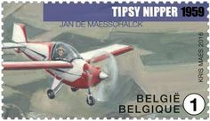 Stamp: Tipsy Nipper (1959) (Belgium) (Old Belgian Airplanes) Mi:BE 4634,Yt:BE 4559,Bel:BE 4592