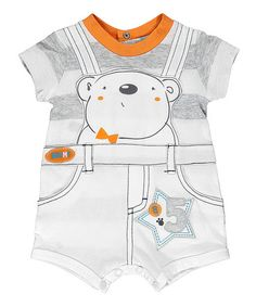 Grey Bear Dungarees Romper by Brums on #zulilyUK today!