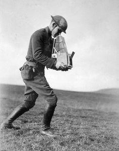 2Lt. Paul Weir Cloud, a combat photographer of the 89th Inf. Div., near Kyllburg, Germany on January 16, 1919.