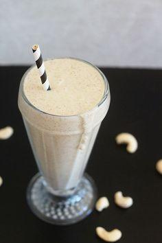 Vegan Vanilla Cashew Shake - More than 10 grams of plant-based protein (no powders!), and tastes just like a vanilla milkshake!