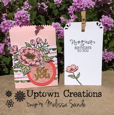 Uptown Creations- Stampin' Up! I Card, Your Favorite, Stampin Up, Birthdays, Card Making, Place Card Holders, Creative, Projects, Fun