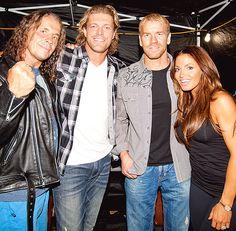 Bret Hart, Edge, Christian and Trish Stratus