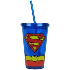 Stainless Steel Tumbler - Ideal For Coffees, Teas, Smoothies - Keeps Liquids Hot For 6 Hours and Cold For 24 Hours Best Travel Coffee Mug, Travel Cup, Insulated Cups, Insulated Tumblers, Superman Symbol, Coffee Tumbler, Coffee Mugs, Superman Costumes, Mugs For Sale