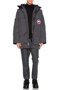 CANADA GOOSE Expedition Poly-Blend Parka. #canadagoose #cloth #