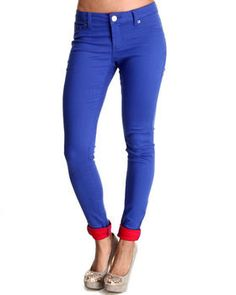 Contrasting Cuff Skinny Jean pants by Basic Essentials