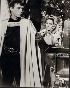 "On the set of ""Becket"" - Elizabeth Taylor, Richard Burton and Peter O'Toole"