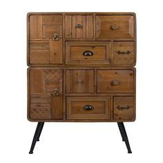 Dutchbone Jove Solid Fir Wood Cabinet with Antique Finish Wooden Drawers, Wooden Cabinets, Cabinet Furniture, Home Furniture, Furniture Design, Buffet Design, Design Rustique, Hickory Furniture, Cabinets Online