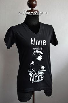 Sherlock T-shirt Alone protects me white print T-shirt Short Sleeve sold by Chicozari. Shop more products from Chicozari on Storenvy, the home of independent small businesses all over the world. T Shirt And Shorts, My T Shirt, Nerd Fashion, Fandom Fashion, Just Good Friends, 221b Baker Street, Fandom Outfits, Sherlock Holmes, Cool Shirts