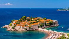 Sveti Stefan Islet Resort, Municipality of Budva, Montenegro ✯ ωнιмѕу ѕαη∂у Places To Travel, Places To See, Best Beaches In Europe, European Holidays, Destin Beach, Beach Holiday, French Riviera, Beach Fun, Holiday Destinations