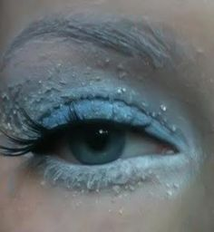 """Eyes for """"Abby"""" from Monster High - more make up for Mama to don for her daughter's Monster High Party, LOL Repinned: Winter Makeup! Wow that look is spectacular!"""