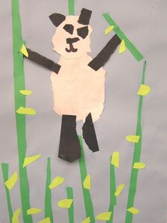 Torn paper panda to explore an animal of China. Picture is uploaded by user so it has no instructions but it would be easy to duplicate.