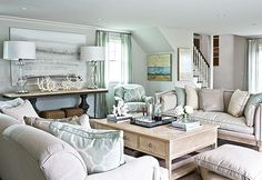perfect living room for a beach house!