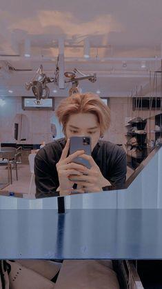 Nct Taeyong, Captain Hat, Kpop, Selfie, Mirror, Mirrors, Selfies, Tile Mirror