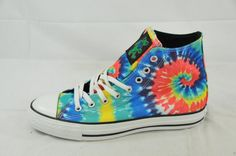 Happiness is tie dye Converse Chuck Taylors.