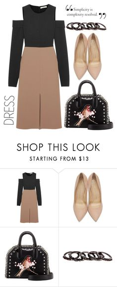 """#twotonedress"" by hajni0103 ❤ liked on Polyvore featuring TIBI, Charlotte Olympia, STELLA McCARTNEY, Free Press and twotonedress"