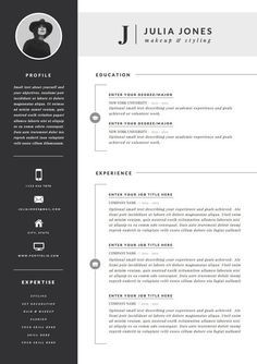 Professional Resume Template Cover Letter Icon Set For Microsoft Word 4 Page Pack Professional Cv Instant Download The Noir Resume Design Template Resume Template Word Resume Template Professional