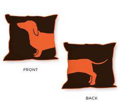 Whimsical dog pillow - pillow design idea
