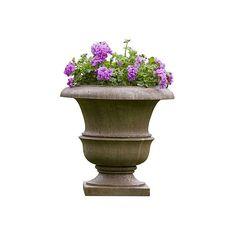 Wren Planter Aged Limestone Outdoor Urns Planters U0026 Jardinieres ($185) ❤  Liked On Polyvore